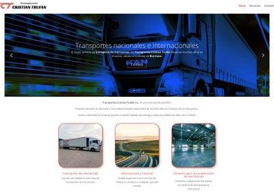 web Transportes Cristian Trufan
